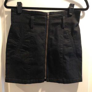 Carmar Skirts - CARMAR Black Denim Skirt With Zipper, Size 28